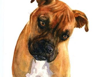 Custom Portraits from Your Photos - Pet Portrait - Original Watercolor Painting 8 x11 inches
