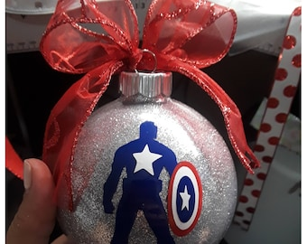 Superhero Ornament; Captain America Ornament;Batman Ornament; Wonder Woman Ornament; Ironman Ornament; Spiderman Ornament; Personalized;