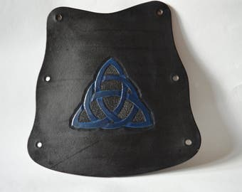 Blue Celtic knot arm guard