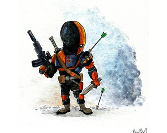 Deathstroke Watercolor Print