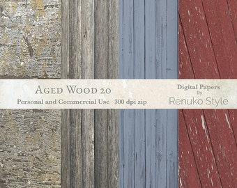 Aged wood 20 Distressed Wood Digital Backgrounds