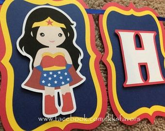 Wonder Woman Banner / Supergirl / Batgirl / Spidergirl / Superhero Girl Banner / Suphero girls banner