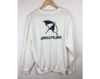 ARNOLD PARMER Extra Large Size Sweatshirt With Big Spell Out Embroiled Logo