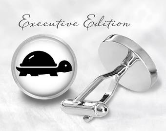 Turtle Cufflinks - Turtle Cuff Links - Turtles Cufflink - Turtle Shell Cuff Link (Pair) Lifetime Guarantee (S1430)