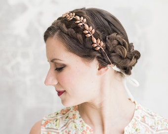 ATHENA- Rose Gold, Bridal Hair Accessories, Bridal Hair Piece, hair vine, Wedding Hair Piece, bridal headband, boho wedding, bridal crown