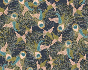 Flights of Fancy Night  spl-40017 - SPLENDOR 1920 - Bari J Ackerman for Art Gallery Fabrics - By the Yard