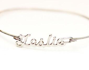 Vintage Name Bracelet - Leslie