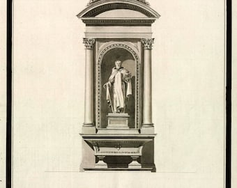 Retablo for side chapel in Parish Church of Our Lady of Bethlehem anonymous architectural drawing c1770-1800