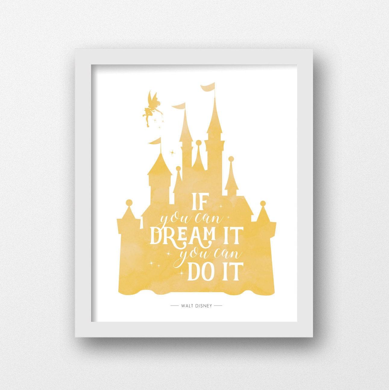 Disney castle PRINTABLE Disney quote Disney prints Disney