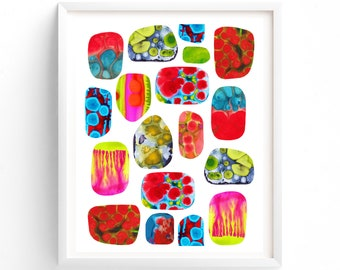 Printable, Abstract Art, Modern Wall Decor, Dorm Room, Painting, Mid Century Modern Art Print