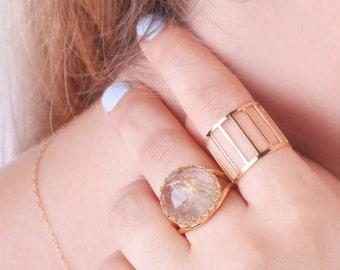 Citrine ring, gold Citrine ring, November birthstone, gemstone ring,citrine jewelry,statement ring -30013