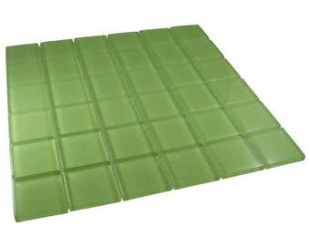 2 inch Light Green Glass Mosaic Tiles