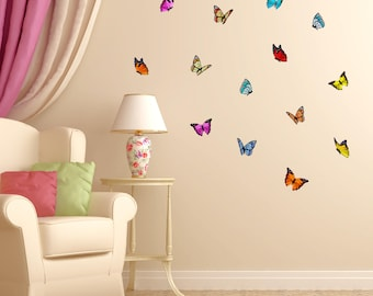 Butterfly Wall Decals ~Colorful Butterfly Girls Wall Sticker