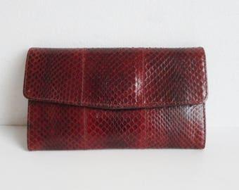 Beautiful 70s Vintage Snake Skin Wallet // Esteve // Made In Spain