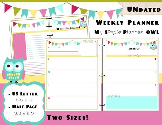 8 week calendar printable