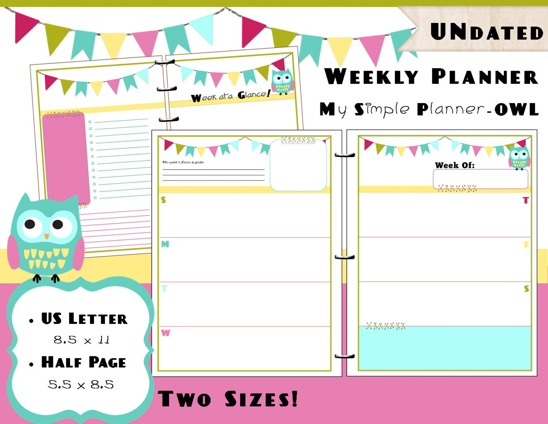 calendar printable weekly