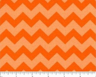 ORANGE CHEVRON Fabric - quilt fabric - yardage - bolt - orange fabric - cotton