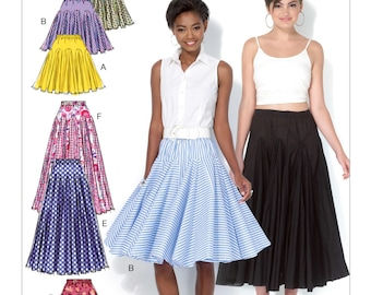 OOP Misses' Flared Skirts  Sewing Pattern, Sizes: 14 -16 -18 -20 -22  McCall's M7097 Sewing Pattern, 3 Lenth Variations UNCUT