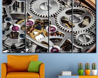 Watch Canvas, Watch mechanism, canvas, printi, mechanism, Wall art