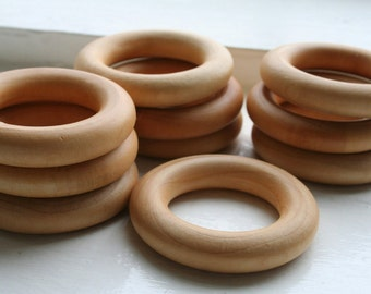 25 Wooden Teething Rings - Montessori Inspired (Pacifier)