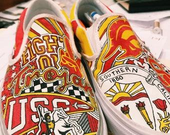 University of Southern California Custom Sneakers