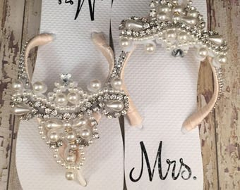 Personalized Custom Mrs. Decal, Mrs. Sticker Bride Label, Bride Decal, Personalized Decal for Shoes, Bridal Sandals Add On Shoe Upgrade