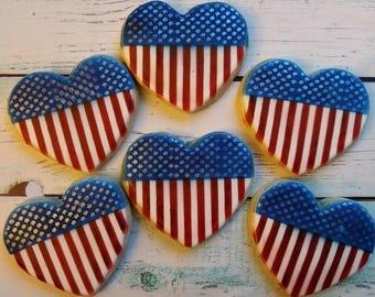 6 Patriotic Sugar Cookies
