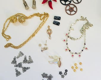 Eclectic Assortment of Beaded Jewelry Supplies