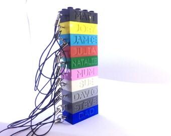 Personalised Lego® Engraved Keyring Brick