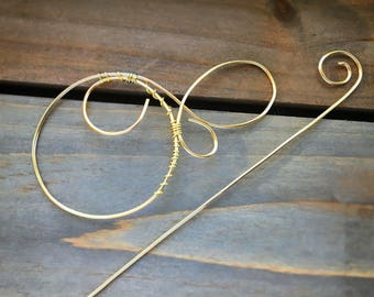 Spiral Wire Wrapped Hair Barrette