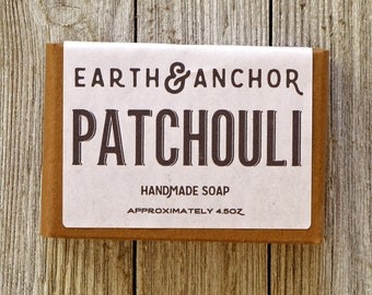 Patchouli Soap || Classic Earthy Soap || Gifts under 10 || Essential Oil Soap