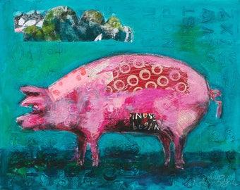 Plentiful Pig, Original Painting