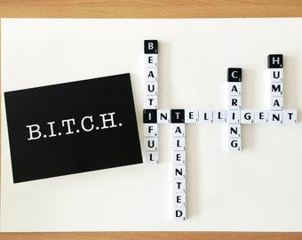 Funny birthday card - Birthday Bitch - Birthday card for girlfriend - Funny birthday card for friend - You're a bitch - Fun card