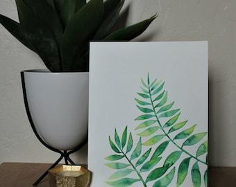 Minimalist, Natural, Earthy, Eucalyptus Watercolor Painting