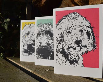 A6 Labradoodle Blank Greeting Cards Set of 6