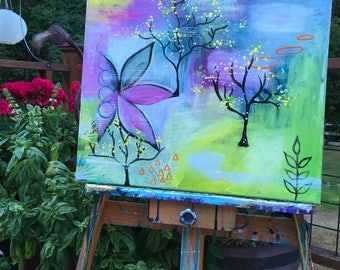 New Growth acrylic painting OOAK