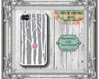 Love Birds iPhone Case, Personalized iPhone Case, Heart Phone Case, iPhone 5, 5s, 5c, iPhone 6, 6s, 6 Plus, SE, iPhone 7, 7 Plus