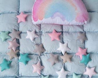Rainbow pillow, Kids decor pillow, Rainbow kids room decor, Nursery pillow, Nursery decor, Decorative pillow, Home decor, Unicorn Collection