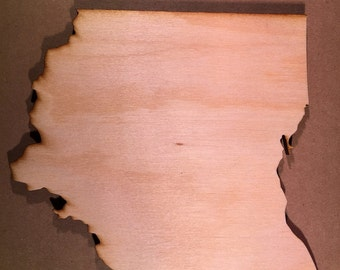 Ohio Sign OH Wooden Cutouts - Large Sizes - Shapes for Projects or Other Use
