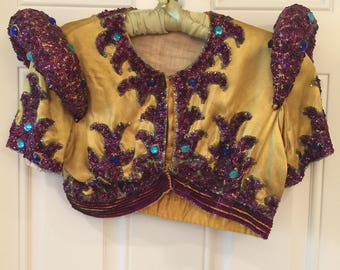 Antique Costume Sequin and Jeweled