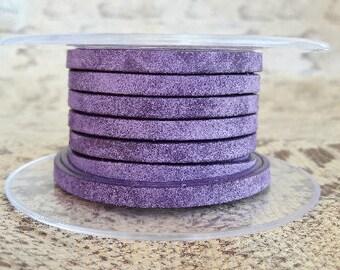 vintage purple 5 mm flat leather European quality