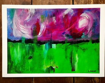 Giclée PRINT of original abstract painting by Amy Struthers