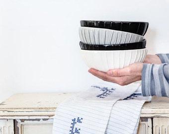 Ceramic Serving Dishes, Ceramic Ramen Bowls, Noodles Bowls, Handmade Pottery Bowls, Modern Dinnerware Set, Wedding Gift, Hostess Gift Ideas