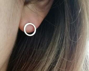 Circle Earrings | simple stud earrings, simple silver circle earrings, simple gold earrings, Minimalist Earrings, gold round earrings, hoop