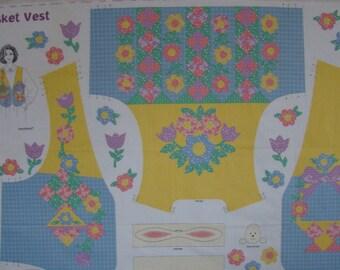 Dreamspinners Flower Basket Vest Panel