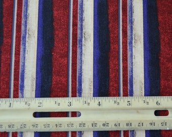 Stripe Fabric, Quilting Fabric By The Yard, 4th of July, Quilts of Valor, Fat Quarter, Patriotic, Kids Quilt, Cotton Quilts, Sewing Material
