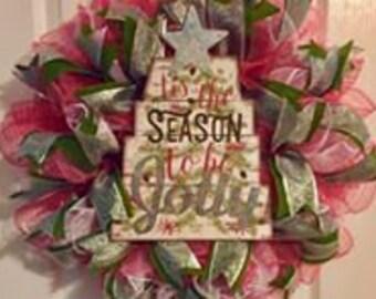 Tis' the Season Christmas wreath
