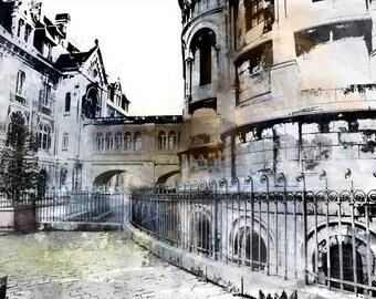 Art, Photography, Paris Castle,Digital Art,Wall Art,Paris Photography,Paris Print, Fine Art Prints, Paris Art, Paris Home Decor, Paris Photo