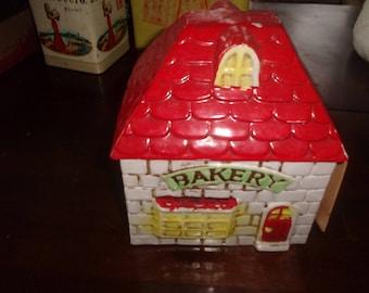 vintage enesco bakery cookie jar