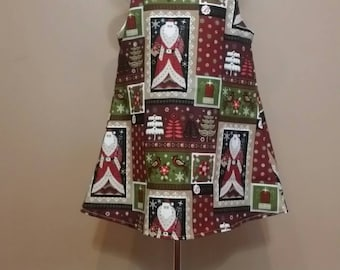 Jumper Dress Santa Maroon and Green Christmas